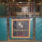 Rancho Andalucia Banner attached to a horse stall